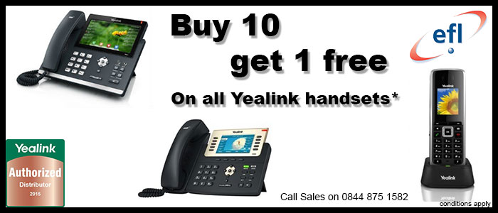 Yealink Buy 10 Get 1 Free Promotion | Electronic Frontier Ltd