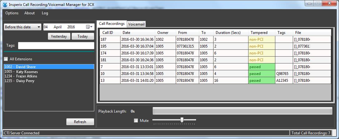 PCI Compliant Recording for 3CX | Electronic Frontier Ltd